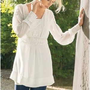 Soft Surroundings Raphael Chiffon Tunic Top Medium
